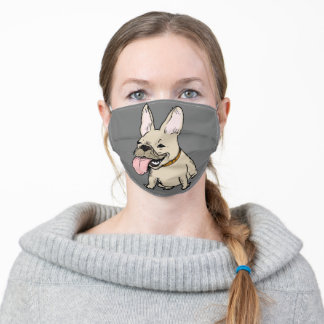 Funny French Bulldog | Cute Dog Lover's Adult Cloth Face Mask