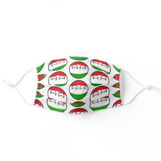 Funny Geeky Hungary Countryball Flag Adult Cloth Face Mask