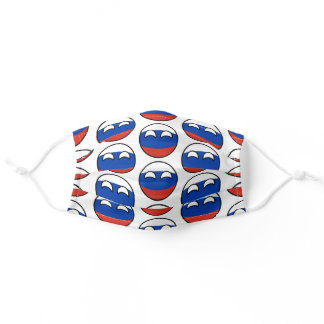 Funny Geeky Russia Countryball Flag Adult Cloth Face Mask
