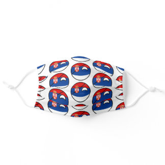 Funny Geeky Serbia Countryball Flag Adult Cloth Face Mask