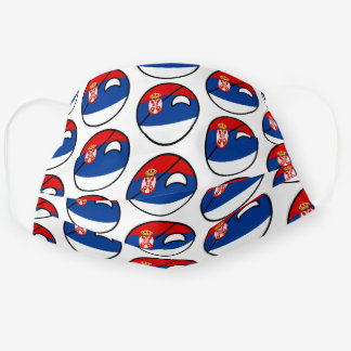 Funny Geeky Serbia Countryball Flag Cloth Face Mask