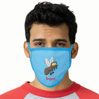 Funny horsefly insect cartoon face mask