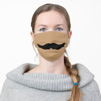 funny humour novelty hipster man beard moustache adult cloth face mask