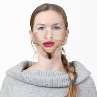 funny humour woman red lips adult cloth face mask