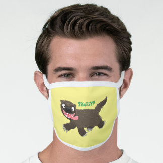 Funny hungry wolverine animal cartoon face mask