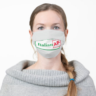 Funny Italian AF Adult Cloth Face Mask