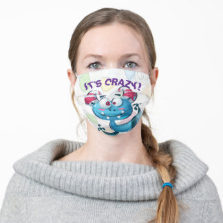 Funny It's Crazy Cute Monster Adult Cloth Face Mask