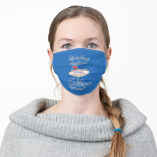 Funny Life is always more fun in Las Vegas Nevada Adult Cloth Face Mask