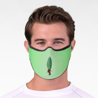 Funny Man in Suit Big Pickle Head With Face Premium Face Mask