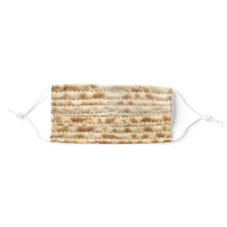 Funny Matzah Matzo pattern for Passover & Pesach Adult Cloth Face Mask