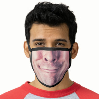 Funny Mens Photo Face, Upload Custom Photo Face Mask