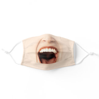Funny Mouth Laughing Adult Cloth Face Mask