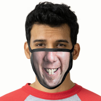 Funny Novelty Fake Man's Face with Big Teeth Joke Face Mask