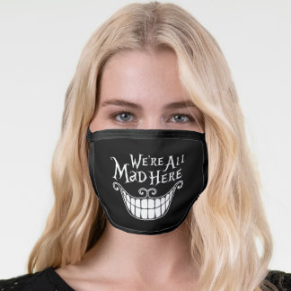 Funny Novelty We're All Mad Here Cheshire Cat Face Mask