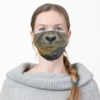 funny ocean animal sea lion whisker adult cloth face mask