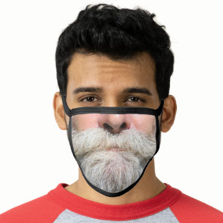 FUNNY OLD MAN HILLILLY GRAY BEARD MASK