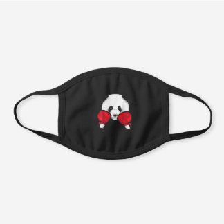 Funny Panda Boxing Cool Animal Lover Gloves Boxe Black Cotton Face Mask