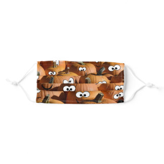 Funny pumpkin patch adult cloth face mask