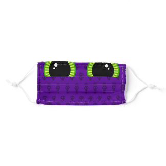 Funny Purple Monster Eyes Adult Cloth Face Mask