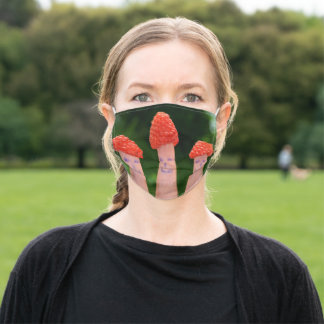 Funny raspberry finger adult cloth face mask