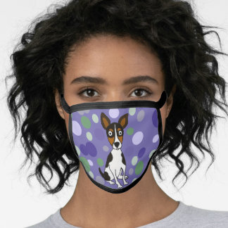 Funny Rat Terrier Puppy Dog Art Face Mask