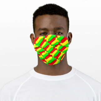 funny red-yellow-green Africa cloth face mask