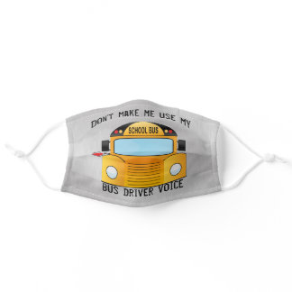 Funny School Bus Driver Adult Cloth Face Mask