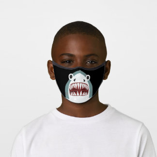 Funny Shark Face Kids Cartoon with Big Eyes Premium Face Mask