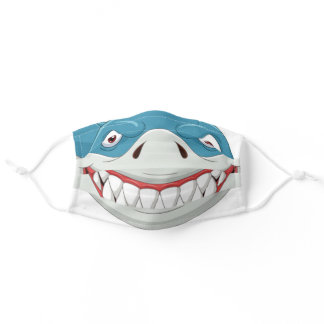 Funny Shark Face Mouth Smile Cloth Face Mask