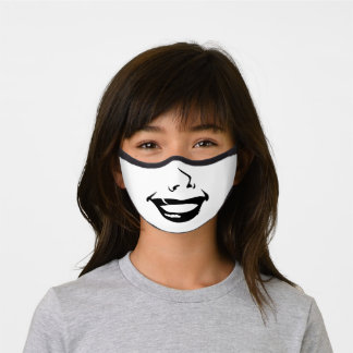 Funny Smiling Face Premium Face Mask