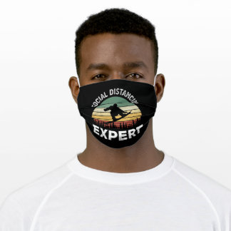 Funny Snowboarding Social Distancing Adult Cloth Face Mask