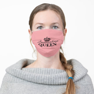 funny social distancing home quarantine queen adult cloth face mask