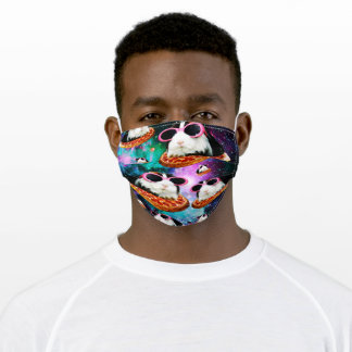 Funny space guinea pig adult cloth face mask