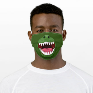 Funny T Rex dinosaur mouth cartoon illustration Adult Cloth Face Mask