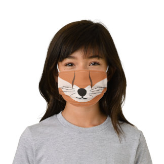 Funny Tan and Brown Fox Print Kids' Cloth Face Mask