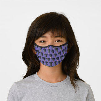 Funny Tongue Out Black Lab Face Pattern Premium Face Mask