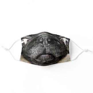 Funny trendy cute dog pug face photo adult cloth face mask