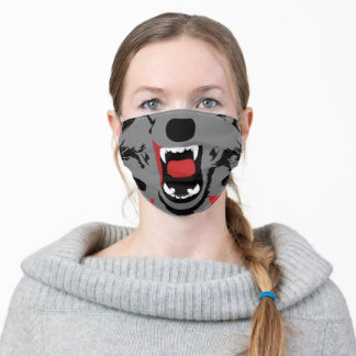 Funny Werewolf Mouth and Teeth Face Mask