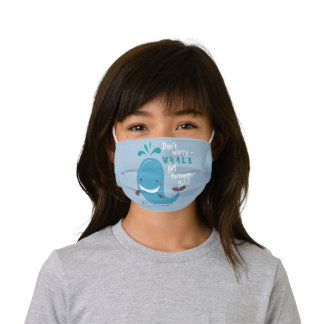 Funny Whale Get Through This Kids' Cloth Face Mask