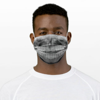 Funny X-Ray Teeth Dental Cool Humorous Adult Cloth Face Mask