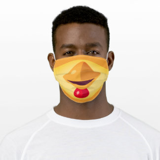 Funny Yellow and Orange Chicken Adult Cloth Face Mask
