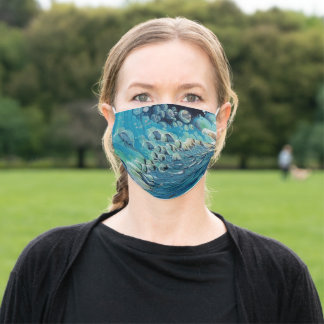 Galaxy boulders adult cloth face mask