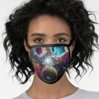 Galaxy Outer Space Planets Astronomy Face Mask