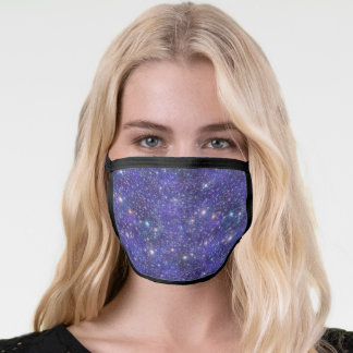 Galaxy Stars Cosmic Universe Outer Space Blue Face Mask