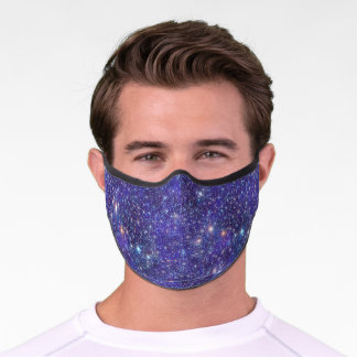 Galaxy Stars Cosmic Universe Outer Space Blue Premium Face Mask