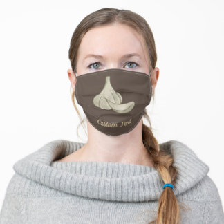 Garlic Woodcut Icon Adult Cloth Face Mask