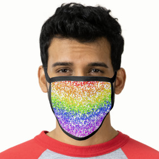 Gay Design Rainbow Flag Colors GLBTQ Face Mask