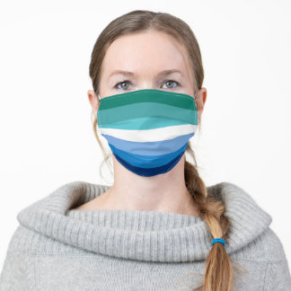 Gay Male Pride Flag (Azure) Adult Cloth Face Mask