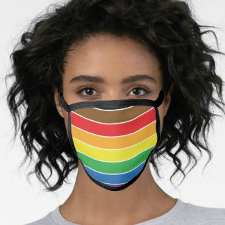 Gay Pride - BLM Gay Pride Flag - Rainbow Stripe Face Mask