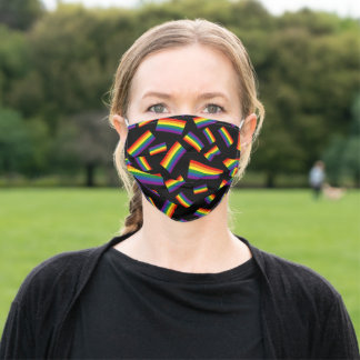 Gay Rainbow Flag | Clustered Pattern Adult Cloth Face Mask